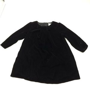 Baby Gap Black Velvet Dress